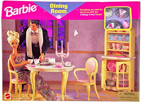 Barbie All Around Home Dining Room Play Set 2000