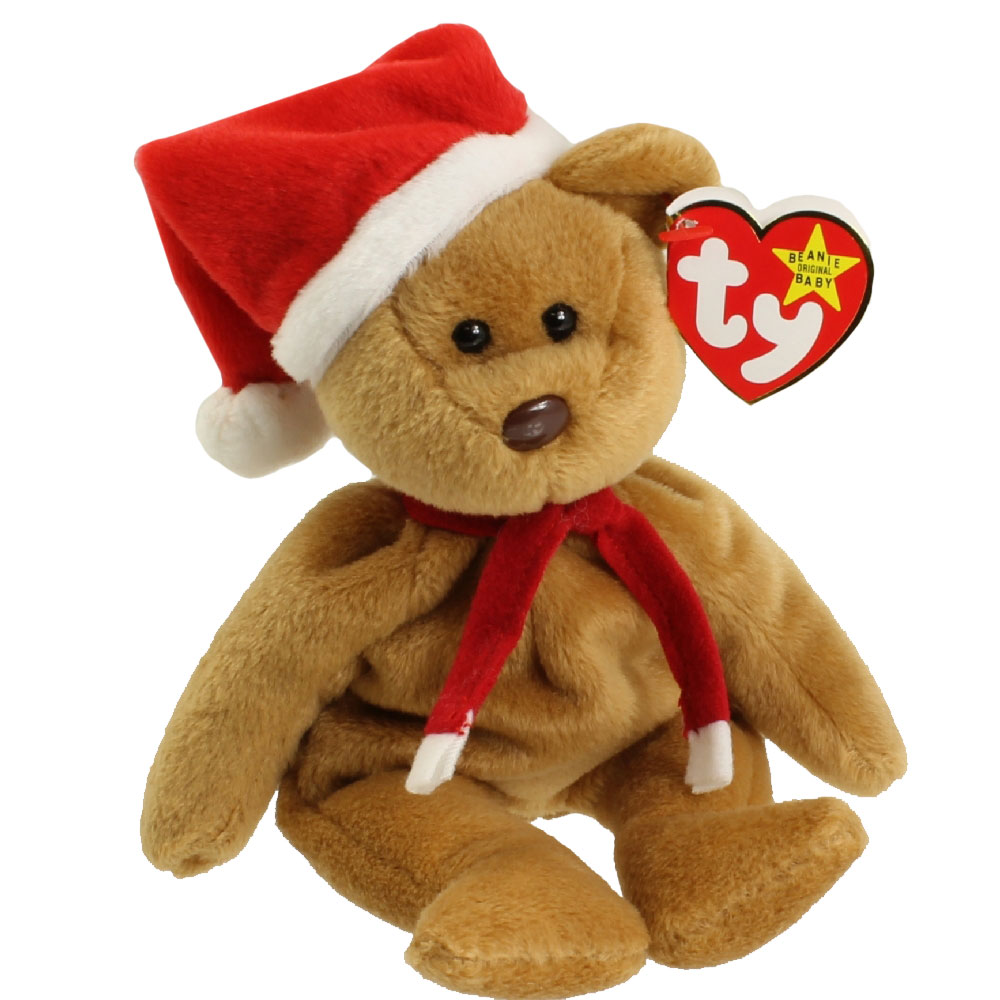 Ty Beanie Baby 1997 Holiday Teddy 8 5 Inch Mint