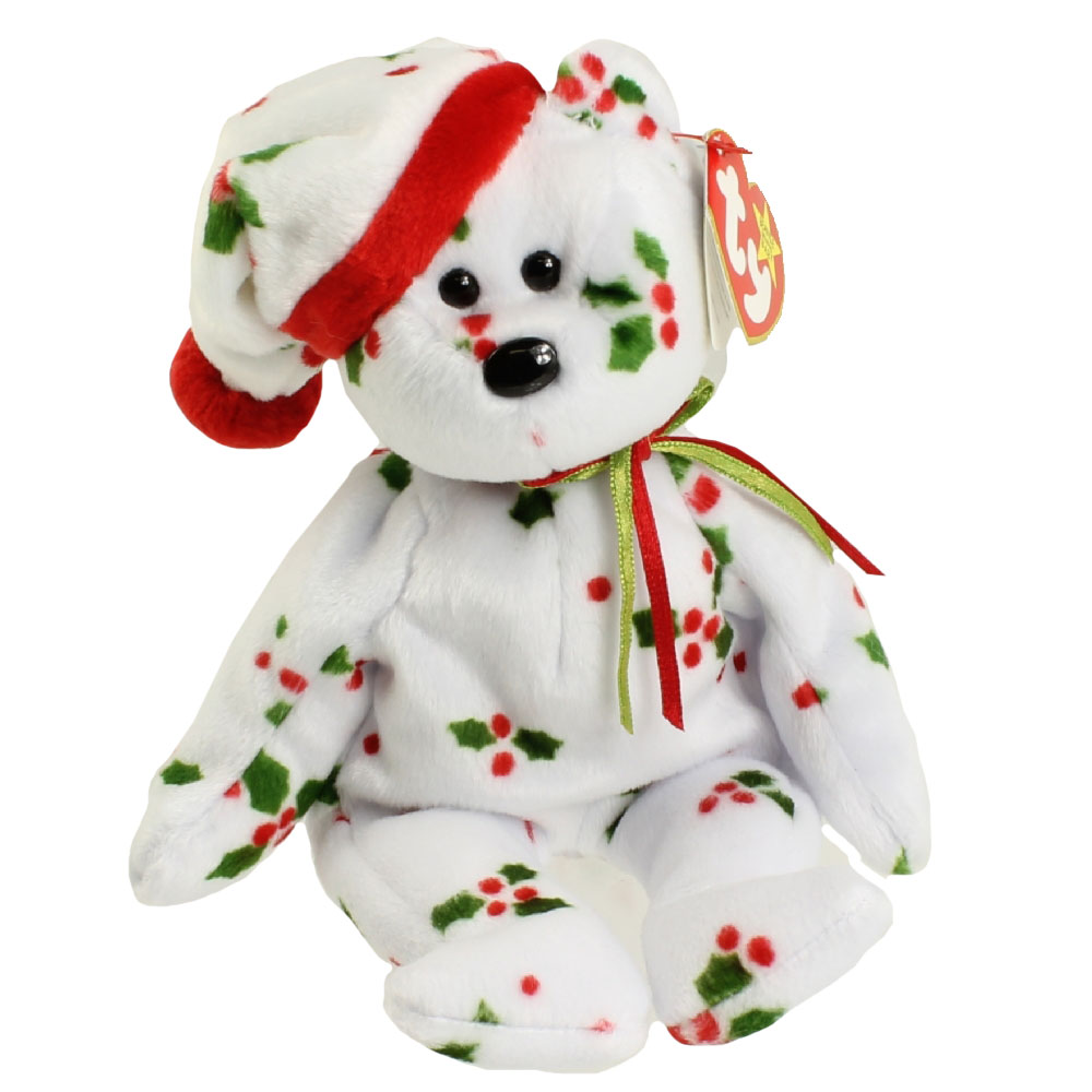 Ty Beanie Baby 1998 Holiday Teddy 8 5 Inch Mint
