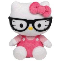 5d8dfd656b5 TY Beanie Baby - HELLO KITTY (NERD w  Glasses - 6 inch) (