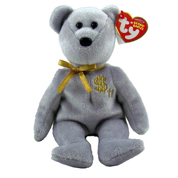 Ty Beanie Baby Billionaire Bear 11 Signed By Ty Warner