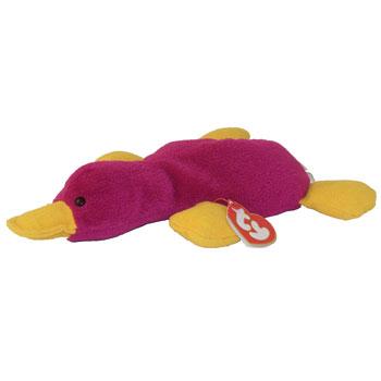 4da3c0dace1 TY Beanie Baby - PATTI the Platypus (Magenta Version) (1st