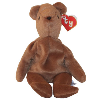 TY Beanie Baby - TEDDY BROWN - OLD FACE (1st or 2nd Gen Hang Tag - Mint)   Sell2BBNovelties.com  Sell TY Beanie Babies 8e938737828
