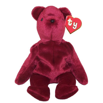 TY Beanie Baby - TEDDY CRANBERRY - OLD FACE (1st or 2nd Gen Hang Tag -  Creased Tag)  Sell2BBNovelties.com  Sell TY Beanie Babies 8fee1f4d7d43