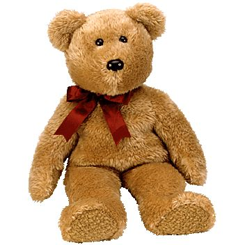 Ty Beanie Buddy Curly The Brown Bear 14 Inch Mint