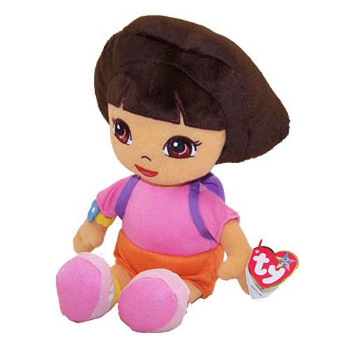 TY Beanie Buddy - DORA the Explorer (Plush Hair) (Medium - 11.5 inch)  (Mint)  Sell2BBNovelties.com  Sell TY Beanie Babies 540c8811f66