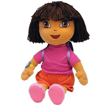 TY Beanie Buddy - DORA the Explorer (Yarn Hair) (LARGE - 17 Inches) (Mint)   Sell2BBNovelties.com  Sell TY Beanie Babies 4c8ae8e44bd