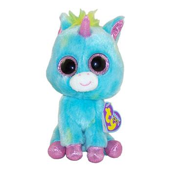 Ty Beanie Boos Treasure The Blue Multicolored Unicorn