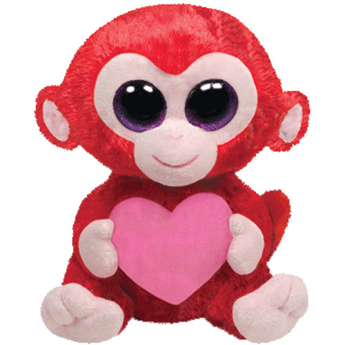 TY Beanie Boos - CHARMING the Red Monkey with Heart (Medium Size - 9 inch)  (Mint)  Sell2BBNovelties.com  Sell TY Beanie Babies 947fe75edfe