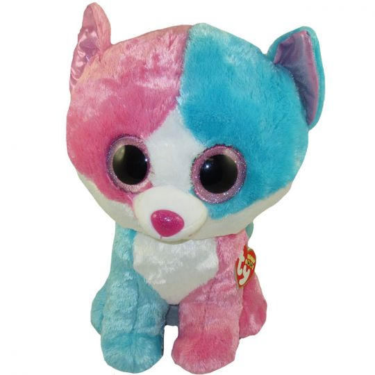 TY Beanie Boos - FIONA the Blue   Pink Cat (Jumbo Size - 17 inch)cl)  (Mint)  Sell2BBNovelties.com  Sell TY Beanie Babies 8f5697fcc10