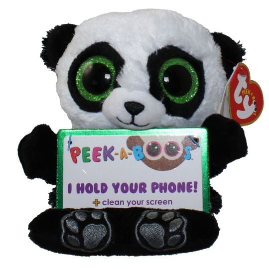 TY Beanie Boos - Peek-A-Boos - POO the Panda (4 inch - Phone Holder)  (Mint)  Sell2BBNovelties.com  Sell TY Beanie Babies cadff361ce1e