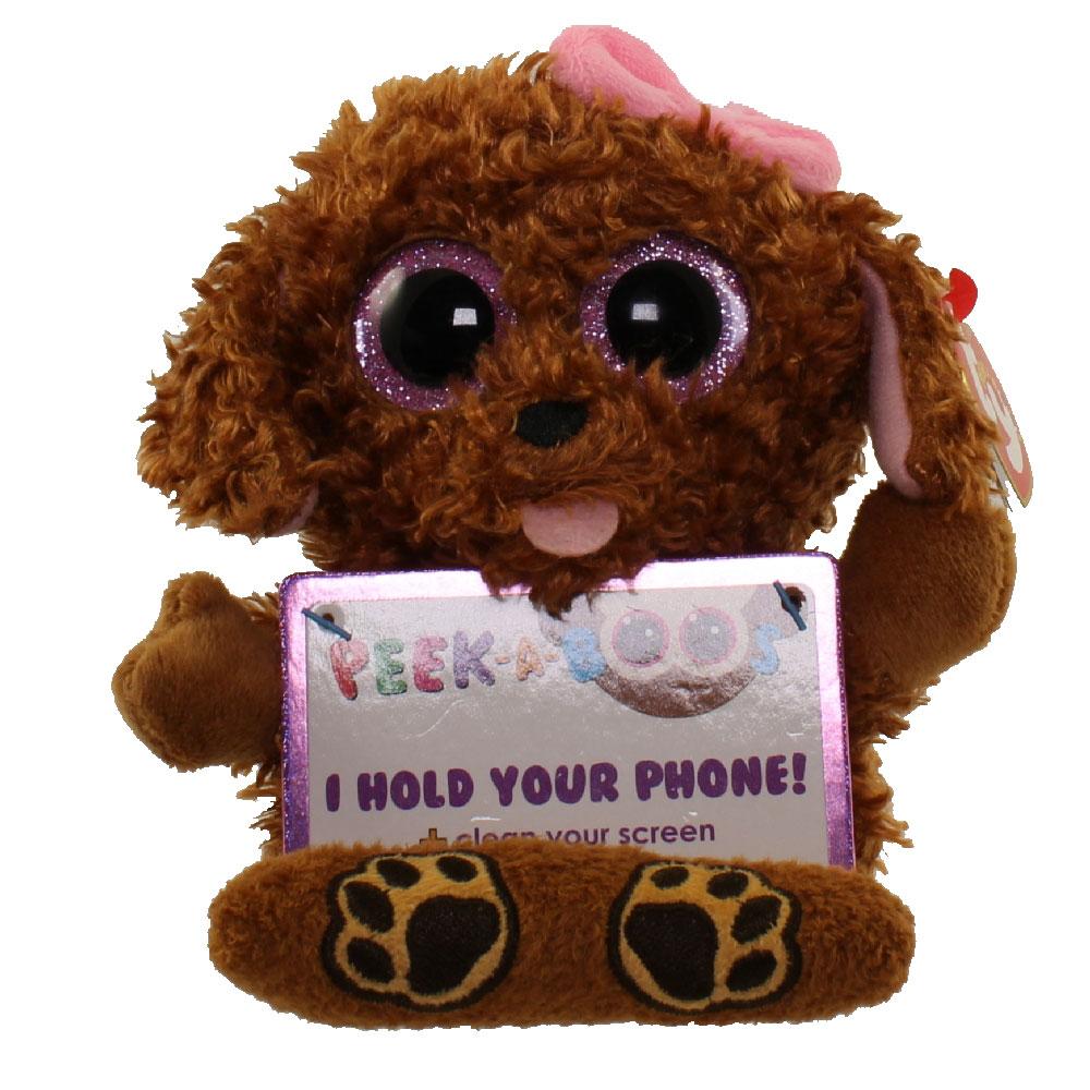 TY Beanie Boos - Peek-A-Boos -ZELDA the Dog (4 inch - Phone Holder) (Mint)   Sell2BBNovelties.com  Sell TY Beanie Babies 73f21f0abc8
