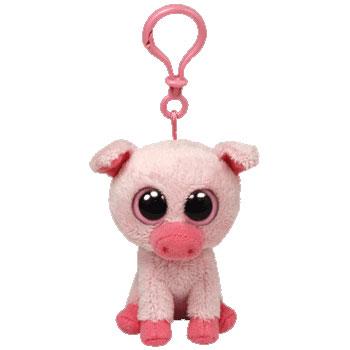 b2755e5468a TY Beanie Boos - CORKY the Pig (Plastic Key Clip - 3 inch) (Mint)   Sell2BBNovelties.com  Sell TY Beanie Babies