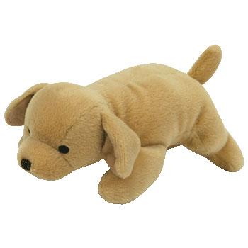 TY Bow Wow Beanie Dog Toy - TAN DOG the Dog (8 inch) ( 714410501b8d