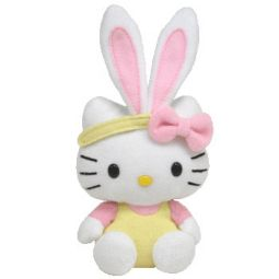 643283b5fd1 TY Basket Beanie Baby - HELLO KITTY (Bunny w  Yellow Overalls) (5.5
