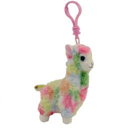 40d5119ecbc TY Beanie Baby - LOLA the Rainbow Llama (Plastic Key Clip) (4 inch