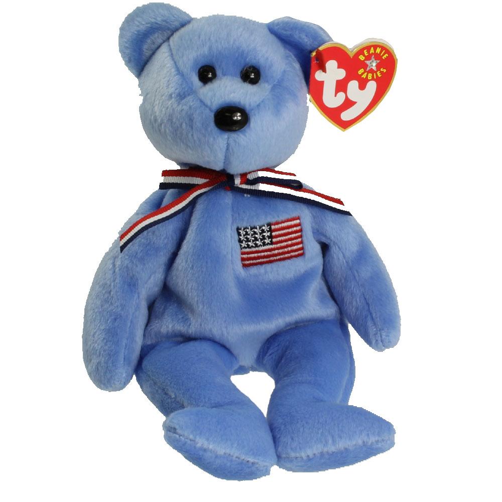 Teenage Mutant Ninja Turtles Toys : Ty beanie baby america the bear blue version inch