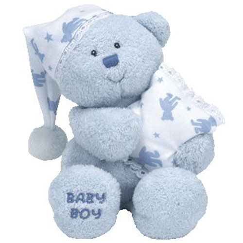 Ty Beanie Baby Baby Boy The Bear With Pj Hat Amp Pillow