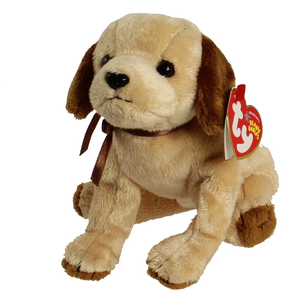 Ty Beanie Baby Badges The Dog 5 Inch Mint