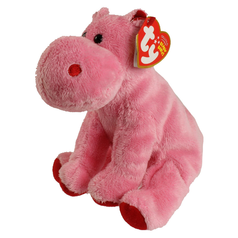 6b08a82e1ca TY Beanie Baby - BIG KISS the Pink Hippo (6 inch) (Mint)   Sell2BBNovelties.com  Sell TY Beanie Babies