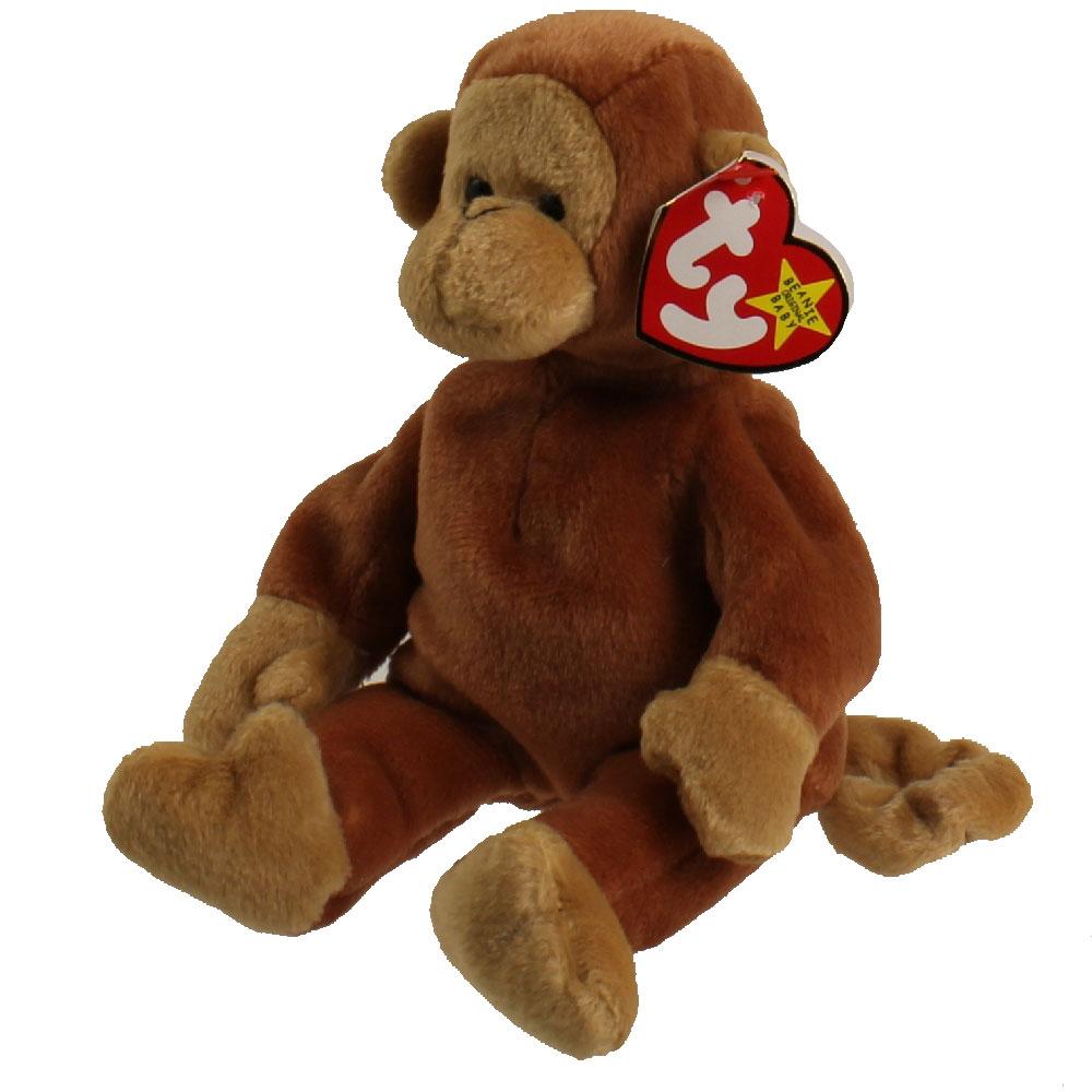 Ty Beanie Baby Bongo The Monkey 8 5 Inch Mint