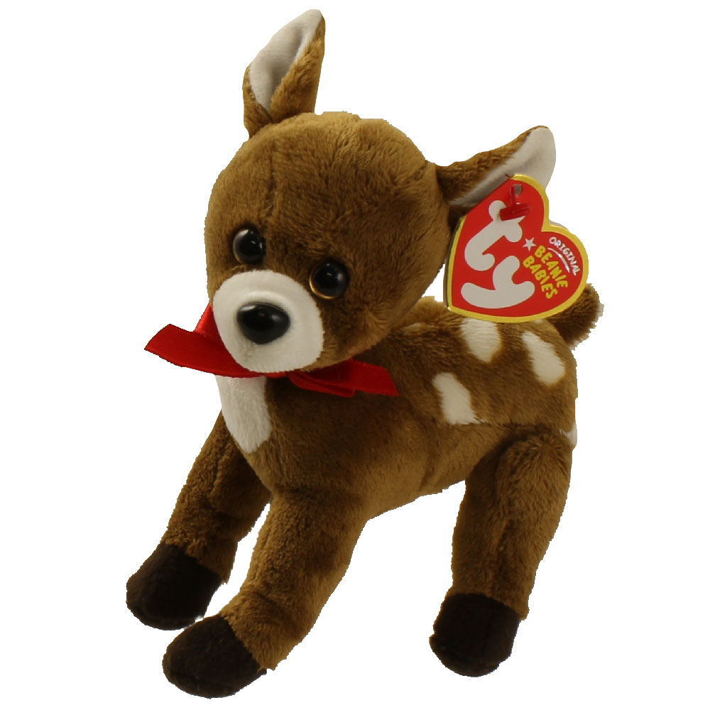 Ty Beanie Baby Chestnut The Reindeer 6 Inch Mint