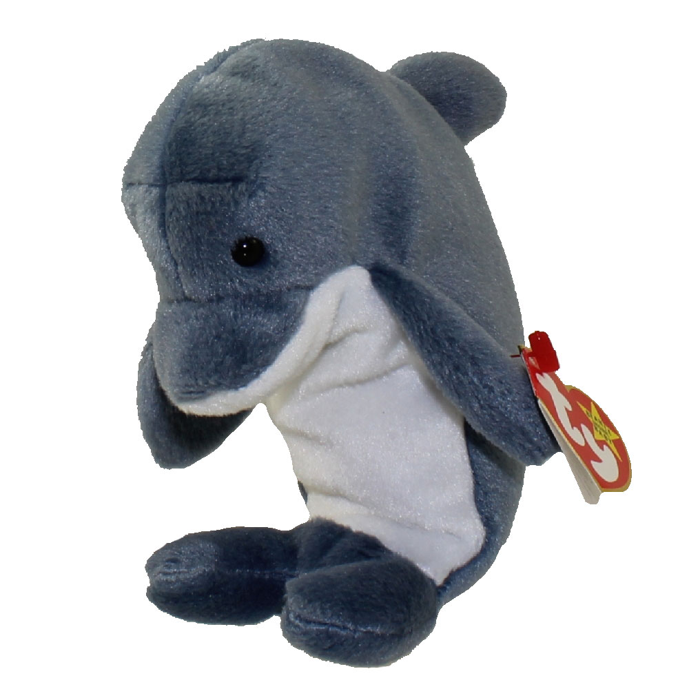 Ty Beanie Baby Echo The Dolphin 6 5 Inch Mint