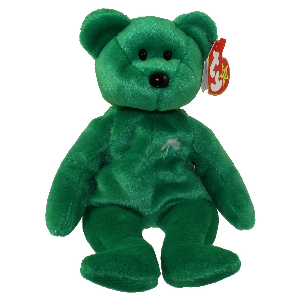 Ty Beanie Baby Erin The Irish Bear 8 5 Inch Mint