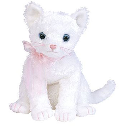 Ty Beanie Baby Fancy The White Cat 6 Inch Mint