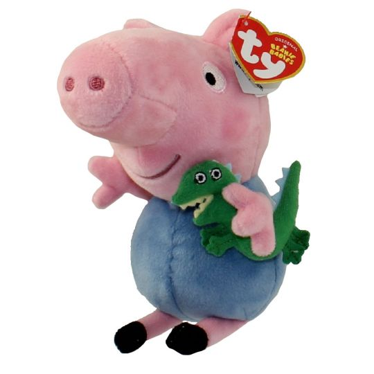 28f810b793c TY Beanie Baby - GEORGE PIG (U.S. Version Peppa Pig - 6 inch) (Mint)   Sell2BBNovelties.com  Sell TY Beanie Babies