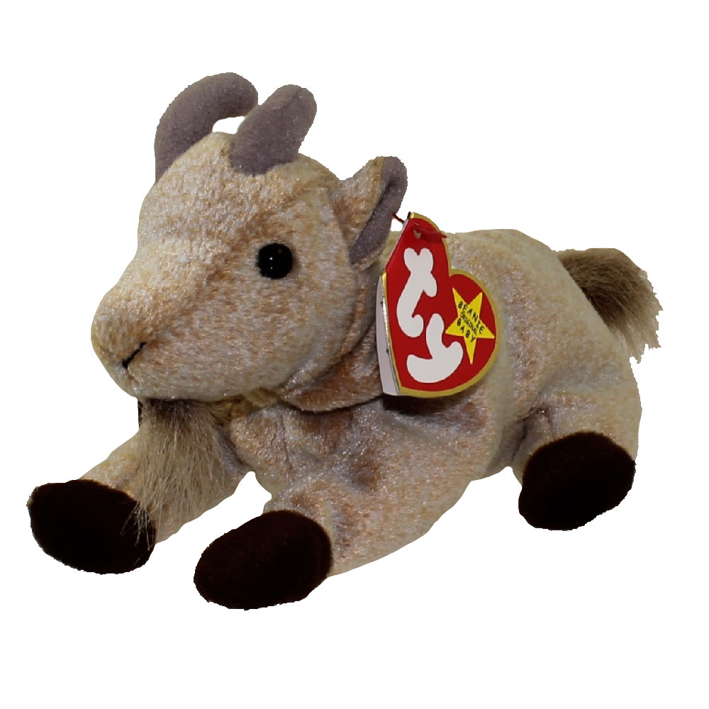 Ty Beanie Baby Goatee The Goat 6 Inch Mint