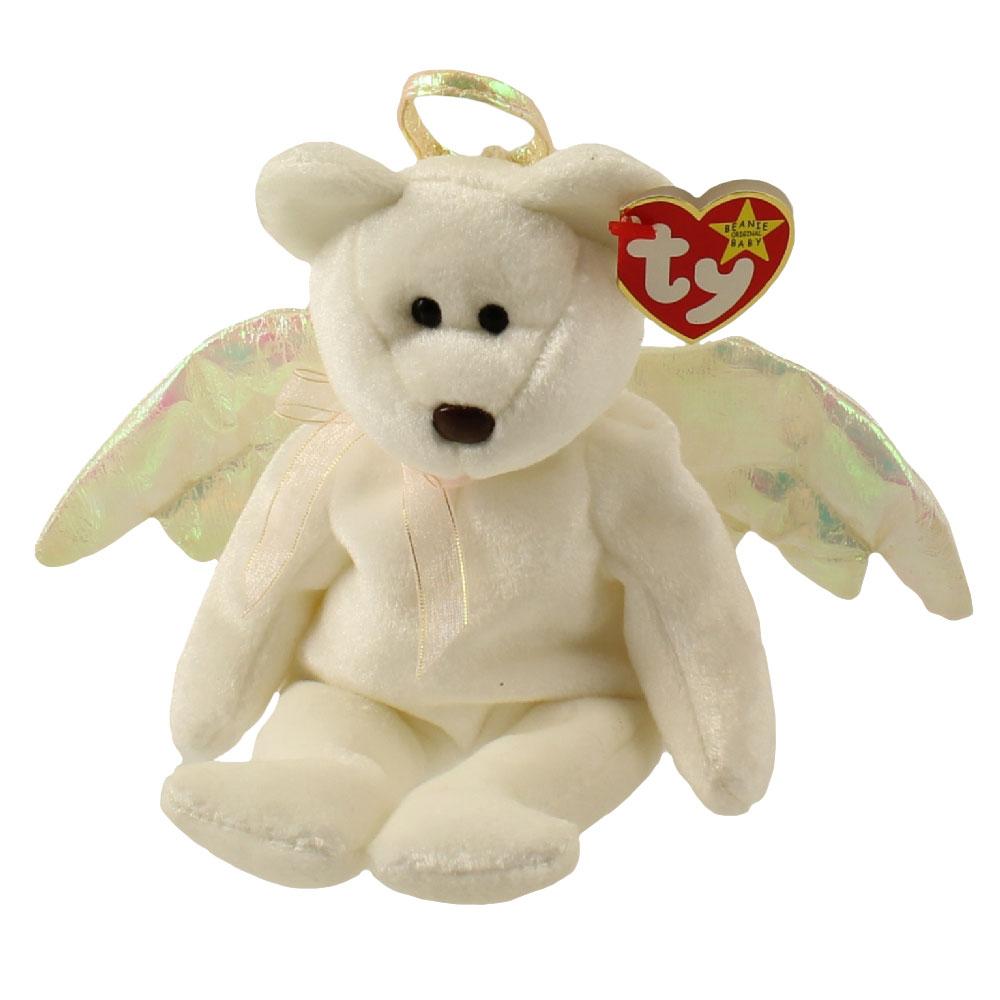 Ty Beanie Baby Halo The Angel Bear 8 5 Inch Mint