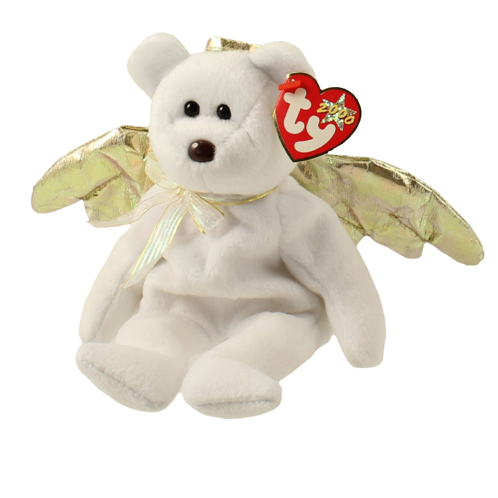 Ty Beanie Baby Halo 2 The Angel Bear 8 5 Inch Mint