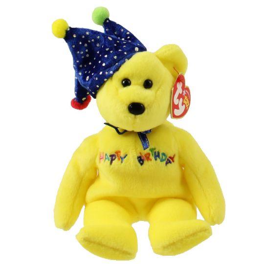 TY Beanie Baby - HAPPY BIRTHDAY the Bear ( Yellow - w  Hat ) (9 inch)  (Mint)  Sell2BBNovelties.com  Sell TY Beanie Babies b74cb7120eb