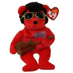 60b4fede6c1 TY Beanie Baby - HEARTBEAR HOTEL the Elvis Bear (9 inch) ...