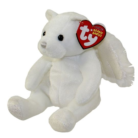 TY HEAVENLY the ANGEL BEAR BEANIE BABY MINT with MINT TAG