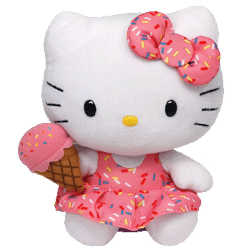 TY Beanie Baby - HELLO KITTY (Ice Cream - 6 inch) (Mint)   Sell2BBNovelties.com  Sell TY Beanie Babies 5705c3bcddf