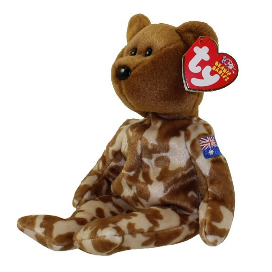 ec2d8d7a105 TY Beanie Baby - HERO the Military Bear (Australia Version) (8.5 inch)  (Mint)  Sell2BBNovelties.com  Sell TY Beanie Babies