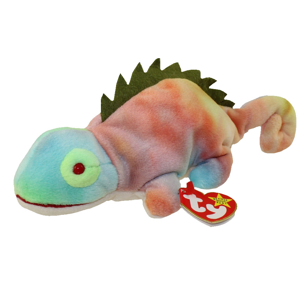 1bef04fc95a TY Beanie Baby - IGGY the Iguana (tye-dyed w  spikes) (