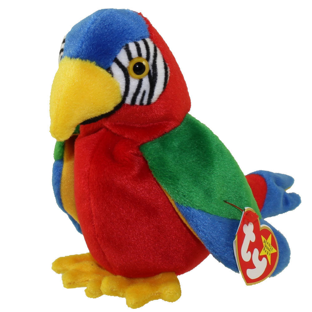Ty Beanie Baby Jabber The Parrot 6 5 Inch Mint