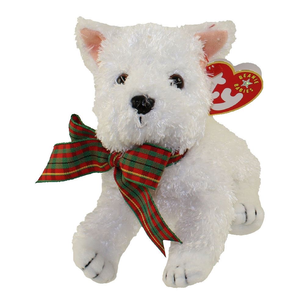 Ty Beanie Baby Kirby The White Dog 5 5 Inch Mint