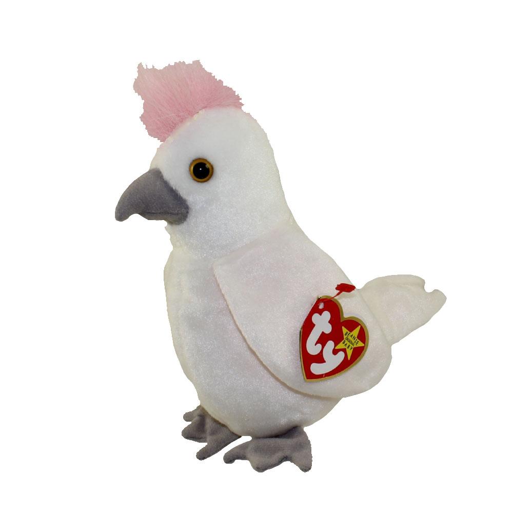 Ty Beanie Baby Kuku The Cockattoo Bird 6 5 Inch Mint