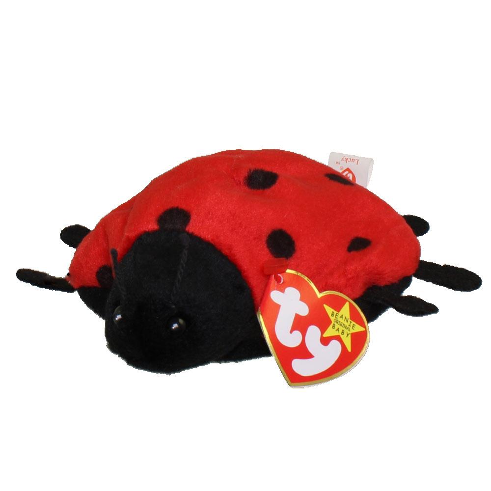 Ty Beanie Baby Lucky The Ladybug 5 Inch Mint
