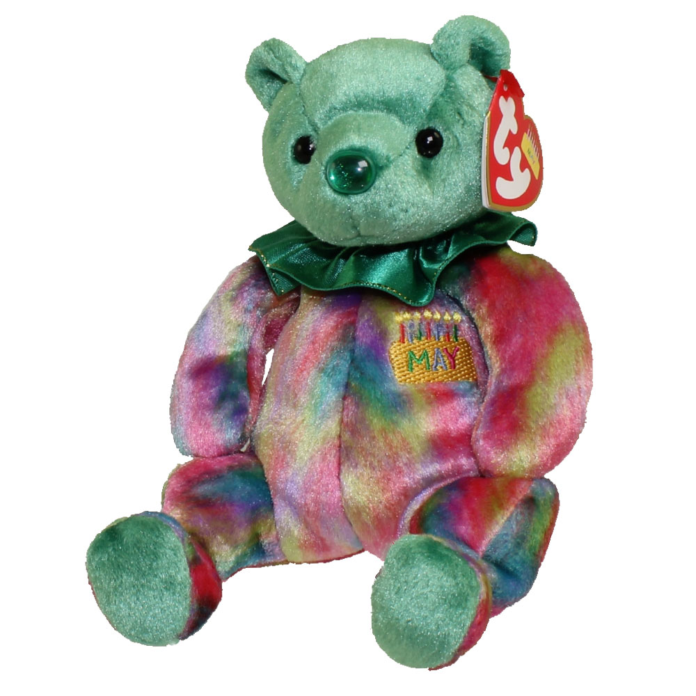 Ty Beanie Baby May The Birthday Bear 7 5 Inch Mint