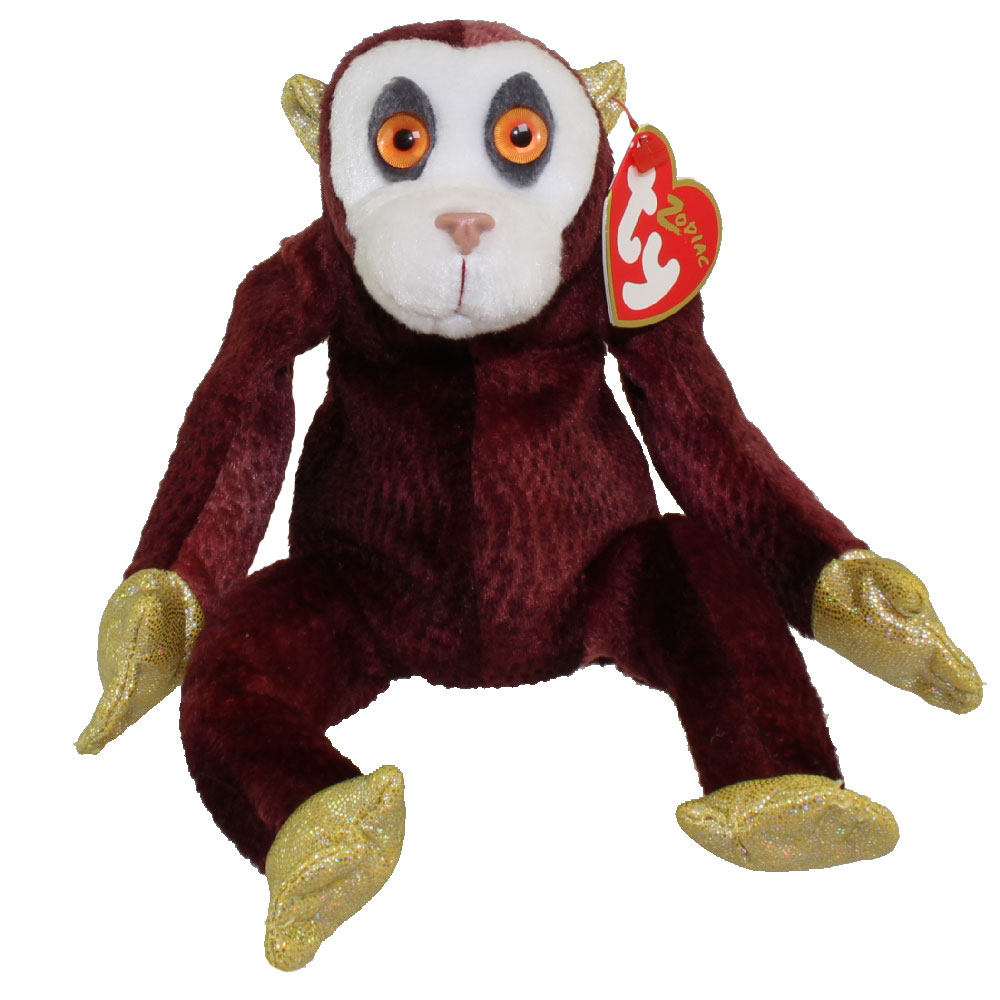 Ty Beanie Baby The Monkey Chinese Zodiac 5 Inch Mint