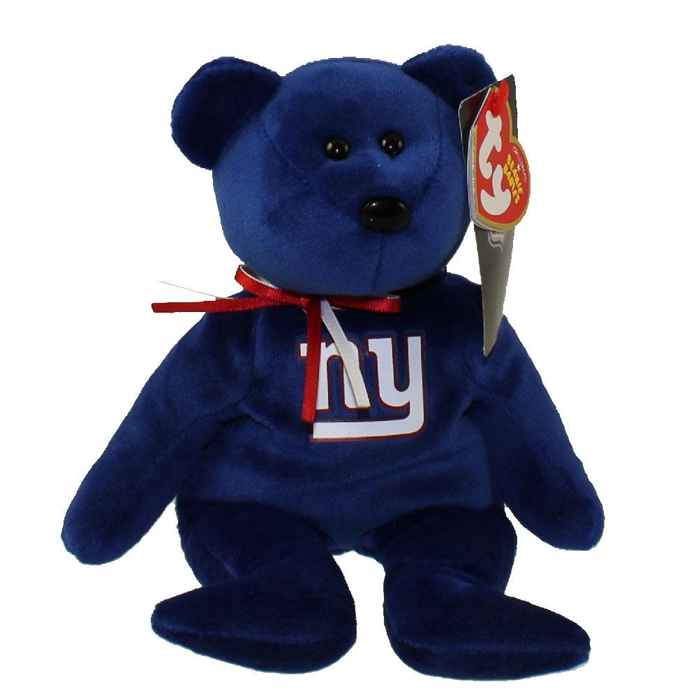 ty beanie baby  nfl football bear  new york giants 85