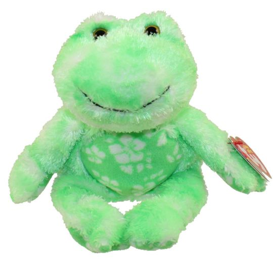TY Beanie Baby - PALMS the Green Frog (5 inch) (Mint)   Sell2BBNovelties.com  Sell TY Beanie Babies 4a566283971