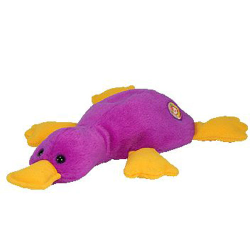 0252c9ca422 TY Beanie Baby - PATTI the Platypus (with BBOC Button on its back - Deep  Purple) (9.5 inch - Mint)  Sell2BBNovelties.com  Sell TY Beanie Babies
