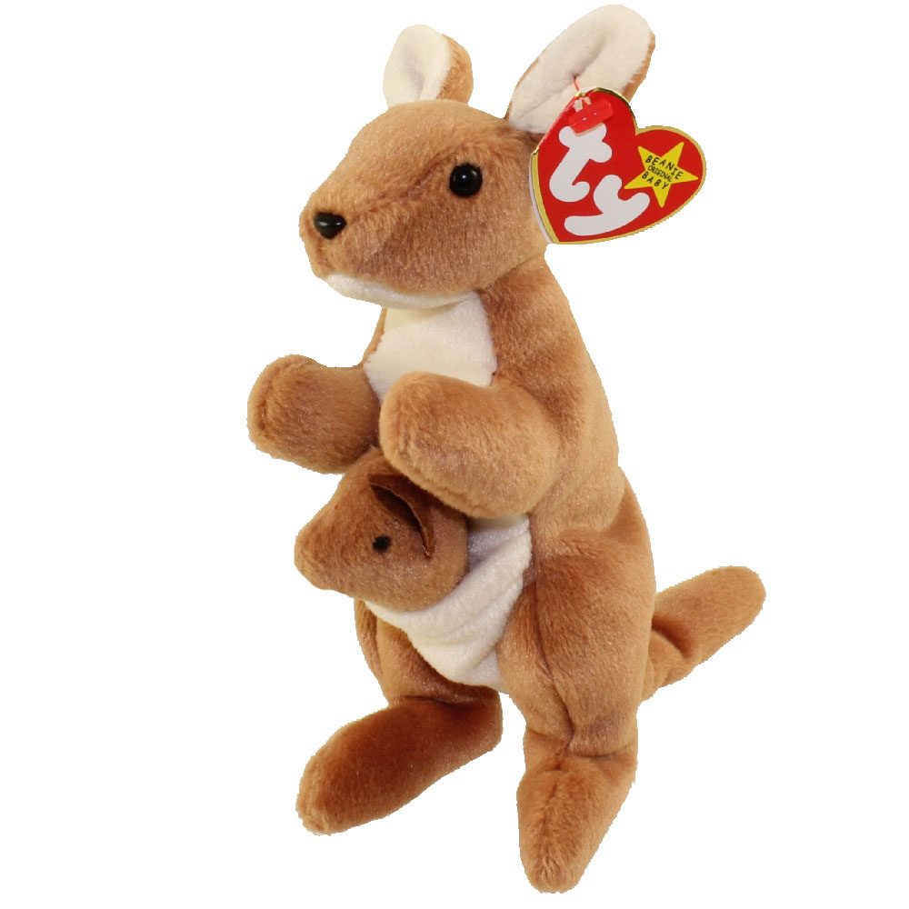 Ty Beanie Baby Pouch The Kangaroo 7 Inch Mint