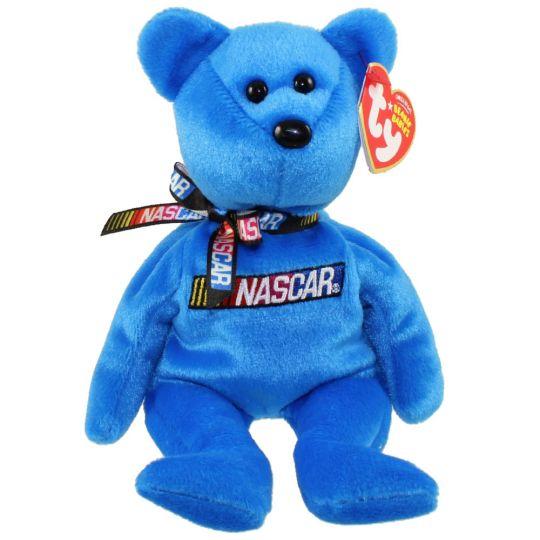2fdec9b0eda TY Beanie Baby - RACER the Nascar Bear ( Blue Version ) (8.5 inch) (Mint)   Sell2BBNovelties.com  Sell TY Beanie Babies